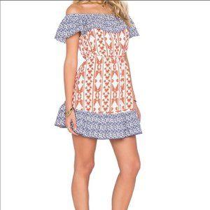 Tularosa Taylor Off Shoulder Ruffle Mini Dress M